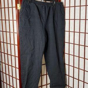 Black straight leg denim Jegging denim&co